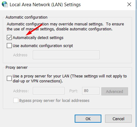 local area settings lan